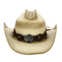 Chapeau Cowboy Ride'Em Paille Naturelle - Bullhide