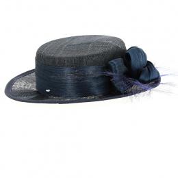 Chapeau de Cérémonie Carmen Bleu Marine - Traclet
