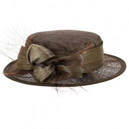 Chapeau de Cérémonie Carmen Marron - Traclet