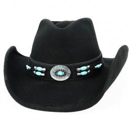 Chapeau Cowboy Jewel of the West Feutre Noir - Bullhide