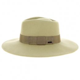copy of Fedora hat in burgundy wool felt - Brixton