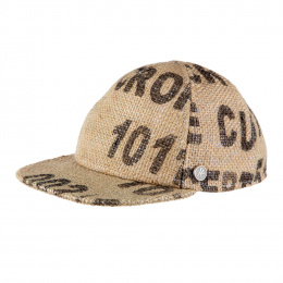 Black coffee ReHats recycled fabric baseball cap