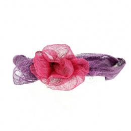 Bandeau de Cérémonie Violet & Rose - Traclet