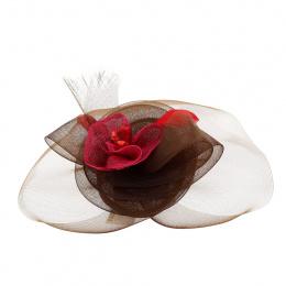 Serre Tête de Cérémonie Marron & Rose - Traclet