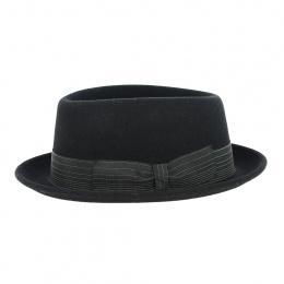 Chapeau Pork Pie Jones laine noir - Traclet