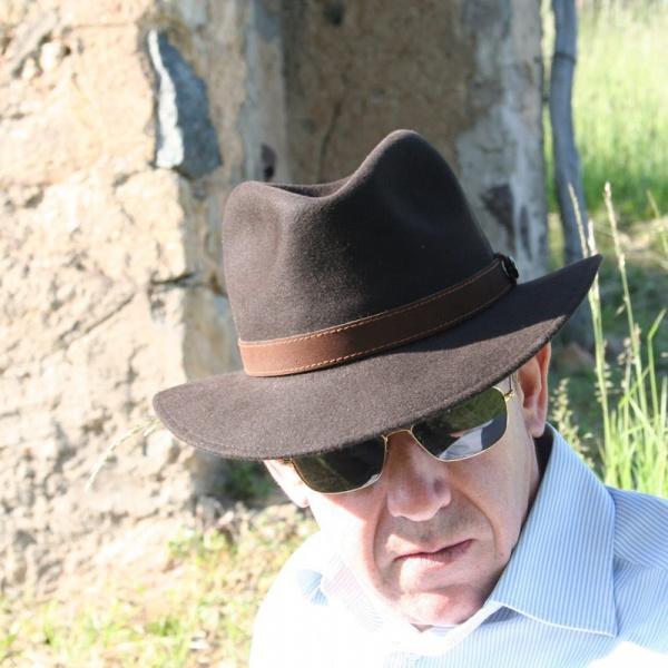 Chapeau Allegro Borsalino Rain Proof marron