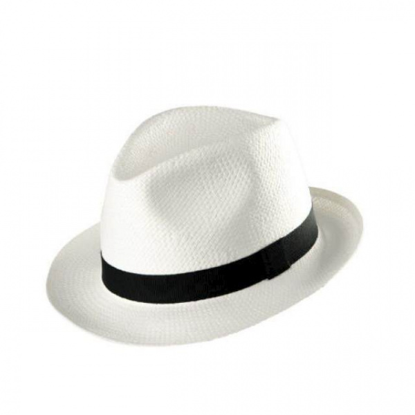 Chapeau style Blue brother paille